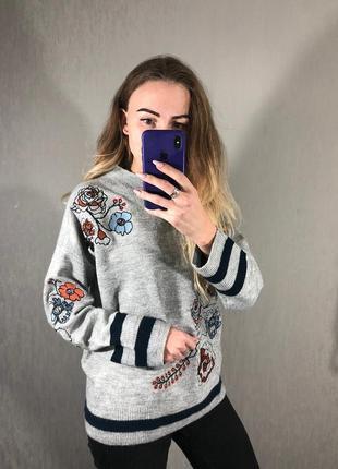 🌿 свитерок с вышивкой от tu