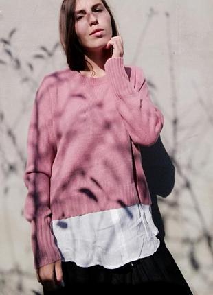 Джемпер с имитацией рубашки h&m кофта свитер пуловер