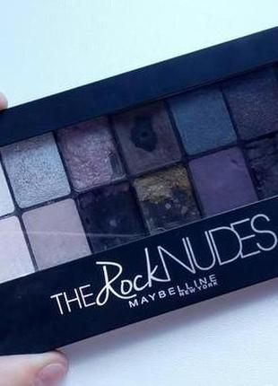 Палетка теней 12 цветов , оригинал мэйбилин new york the rock nudes