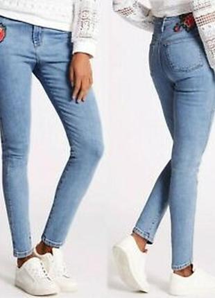 Стильные джинсы скини на высокий рост от mark's &spencer