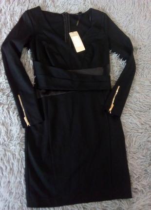 Новое! шикарное черное платье lipsy london 10 размер(42)
