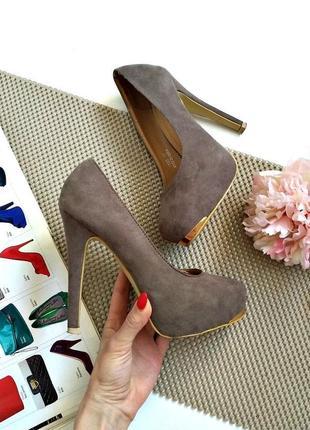 Шикарные туфли цвета хаки