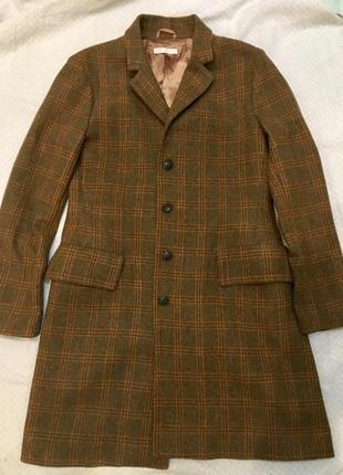 Шерстяное пальто stefanel шерсть 100%