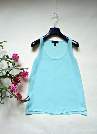 Базовая летняя лёгкая мятная блуза 10