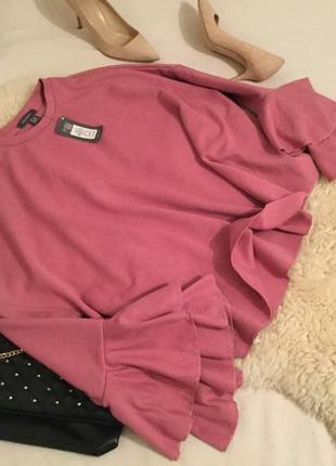 Мега крутая бомбер блуза суперрррр-оверсайз темно розового цвета на р.m/l/xl ...💕🌸💝