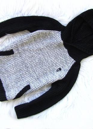 Стильная кофта свитер реглан  бомбер с капюшоном  matalan