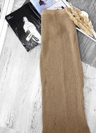 Актуальная трендовая тёплая юбка макси от topshop, длинная юбка