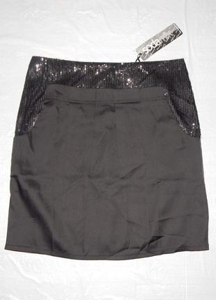 Xs, поб 42-44, юбка с пайетками sodamix классика мини