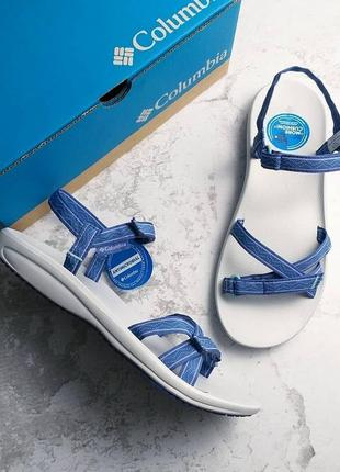 Columbia оригинал синие спортивные босоножки на липучках