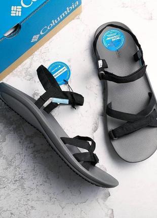 Columbia оригинал черные спортивные босоножки на липучках