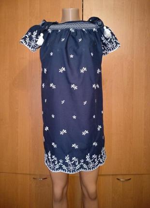 Крутое хлопковое платье сарафан туника хлопок пог-55 см