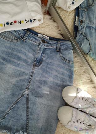 Джинсовая юбка, спідниця джинсова