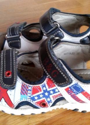 Детские летние сандалии босоножки для мальчика b&g кожа 32 размер