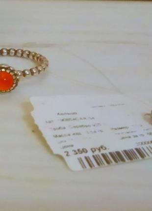 Серебряное кольцо с сердоликом / талисман / колечко pandora / пандора оригинал
