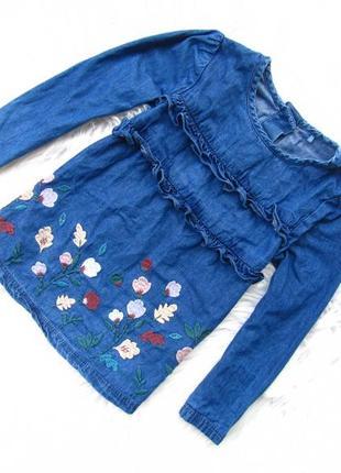 Стильный джинсовая  кофта туника tu