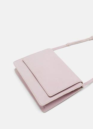 Натуральная кожа замшевая сумка лавандового цвета zara