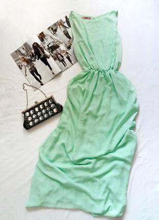 Мятное платье maremi