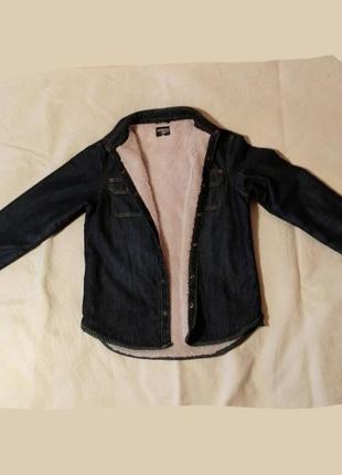 Рубашка джинсовая на меху