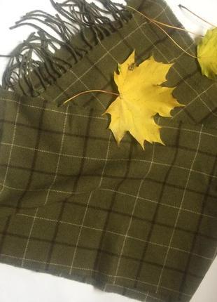 Тёплый уютный кашемировый шарф 💚