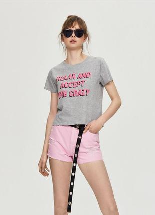 Женская короткая футболка кроп топ sinsay 1031
