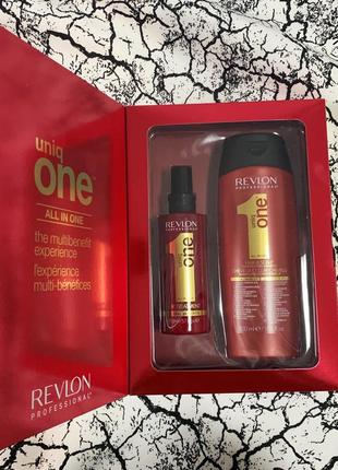 Revlon professional uniq one - спрей для волосся 150 мл/шампунь-кондиціонер 300 мл