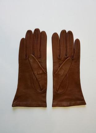 Перчатки из лайковой кожи dents, р. 7,5. шелковая подкладка