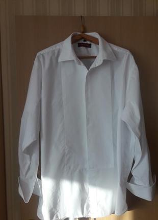 Рубашка белоснежная под запонки