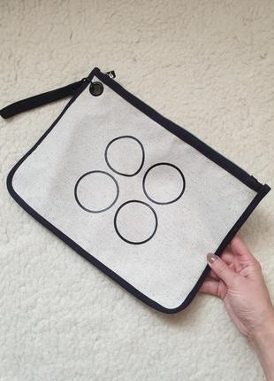 Стильная натуральная сумочка клатч косметичка