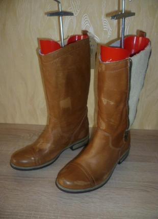 Кожаные зимние сапоги roxy (рокси) 40р.