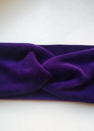 Велюровая повязочка чалма повязка на голову