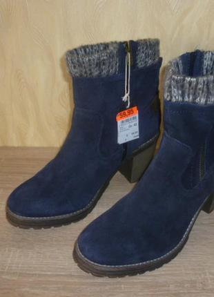 Демисезонные кожаные ботинки tom tailor (том тейлор)