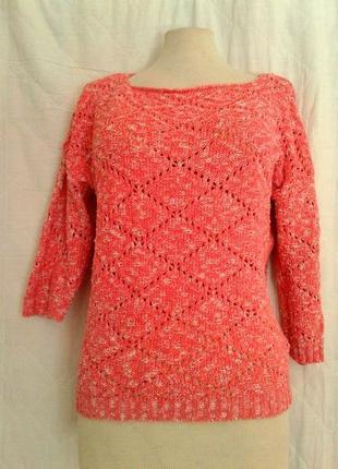 Хлопковая блузочка розово-белая, l