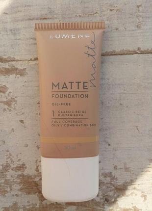 Тональный крем lumene matt control oil-free foundation