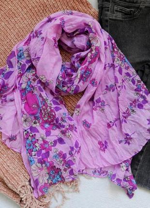 Яркий обьемный шарф снуд палантин