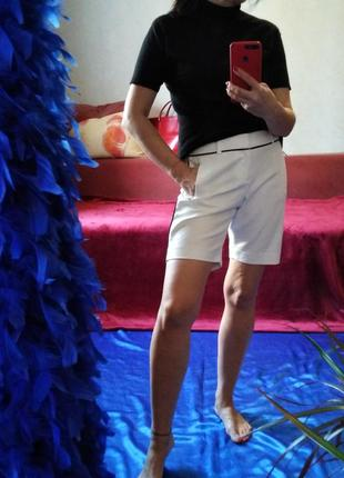 Люкс-бренд! стильные белые шорты, кэжуал стиль, хлопок, calvin klein