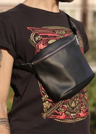 Бананка из натуральной кожи ,  поясная сумка,кожаная сумка