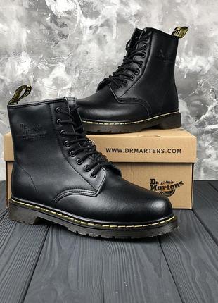 Шикарные мужские ботинки dr. martens 1460 black с мехом зимние 😃 {зима}