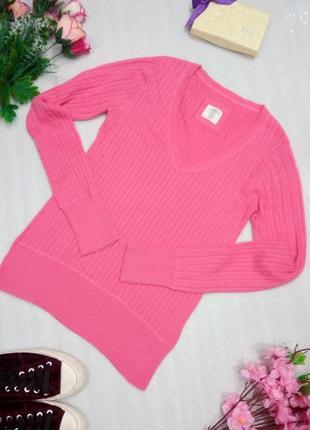 Крутой розовый хлопковый лонгслив кофта пуловер 100% хлопок от logg h&m р. m