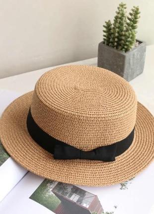 Соломенная шляпа- канотье