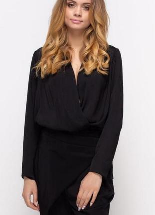 Блуза боди прямого силуэта zara на запах кофточка