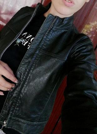 Кожаная куртка кожанка gap кожа! оригинал