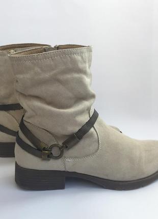 Ботинки замшевые footflexx, казаки, полусапожки, р.38