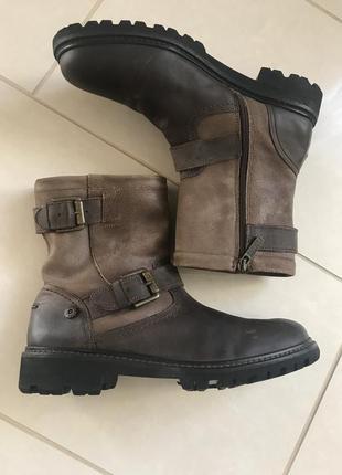 Ботинки кожаные мужские стильные tommy hilfiger размер 40
