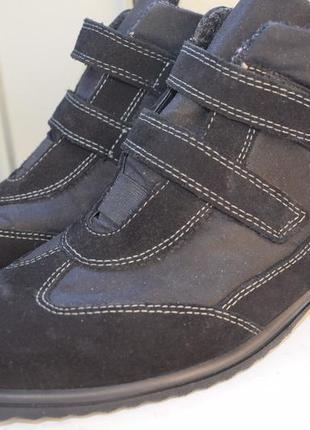 Зимние мембранные ботинки на липучках термоботинки gore tex