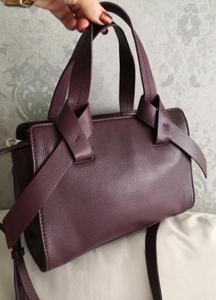 Мега стильная кожаная сумочка m&s, индия