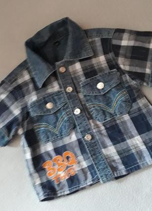 Джинсовая рубашка для мальчика 1 год