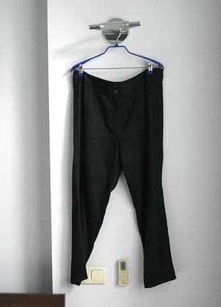 Брюки штаны vovk р. 52 54 теплые черные изумрудные классические базовые большие