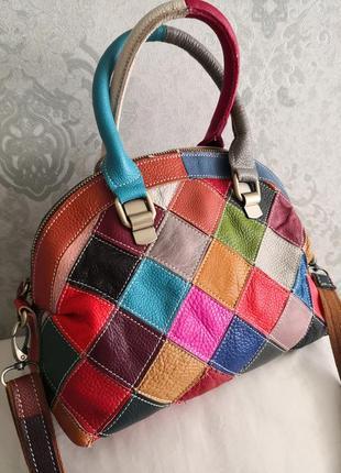 Оригинальная кожаная сумка.