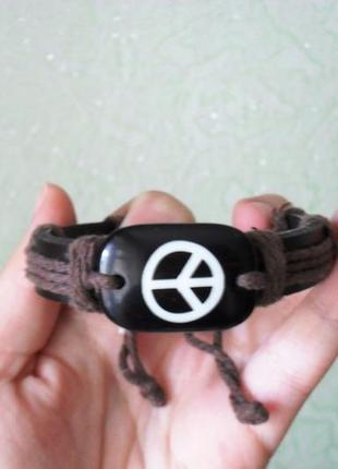 """Новый кожаный браслет """"пацифик"""", унисекс, ручная работа, handmade"""