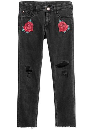 Джинсы штаны h&m для девочки 8-10 лет